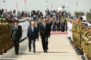 President Barack Obama and Israeli President Shimon Peres