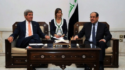 Secretary Kerry and Prime Minister Maliki met in Baghdad on June 23, 2014.