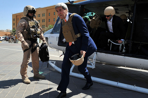 Secretary Kerry arrives in Baghdad to meet with Iraqi leaders.
