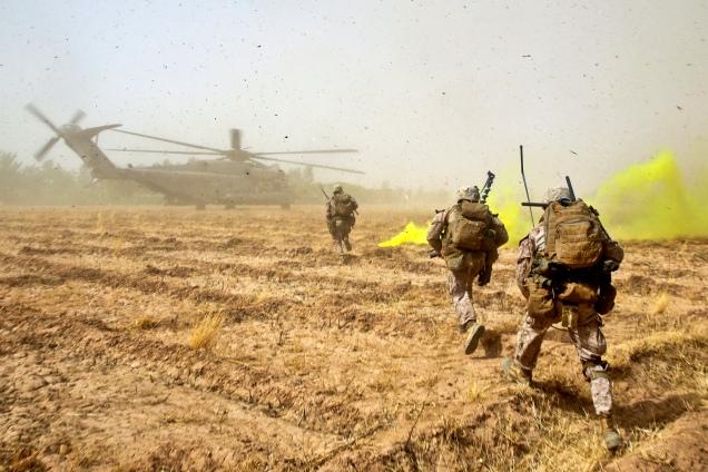U.S. Marines in Helmand Province, Afghanistan.