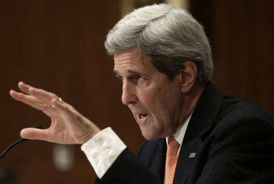 John Kerry during his testimony of the 2016 Foreign Affairs Budget on February 25, 2015. (Photo: Zimbio)