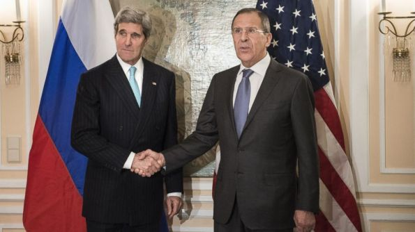 Secretary of State John Kerry meets with Russian Foreign Minister Sergey Lavrov.